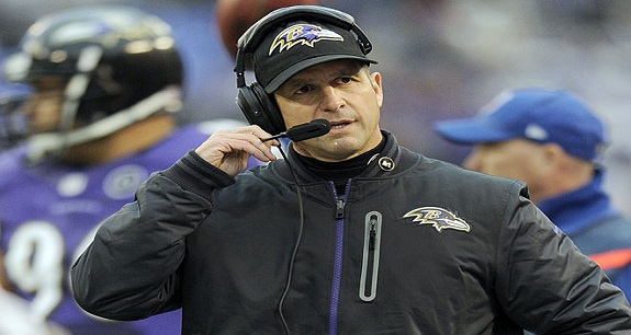 John Harbaugh Head Coach NFL's Baltimore Ravens